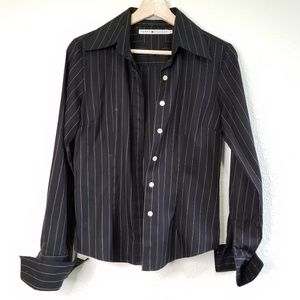 Tommy Hilfiger Black & White Pinstripe Top